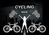 Cycling race. Vector image. - 243558717