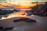 sunset on the beach, algeria