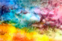 """Постер, картина, фотообои """"Pretty oil painting abstraction. Print art for wall decor. Impressionism style spring collection. Chaotic conceptual brush strokes on canvas. Warm colors background for rich creative graphic design."""""""