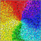 Abstract stained glass background , the colored elements arranged in rainbow spectrum - 243604971