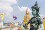 Beautiful view of Buddhist statue at Wat Saket temple. Bangkok - 243606311