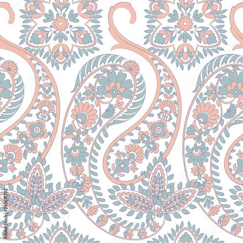 Paisley Pattern. Seamless Asian Textile Background - 243618392