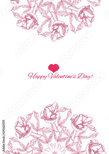 Valentine printables poster flowers - 243620511