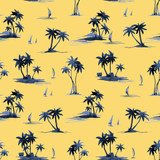 Watercolor abstract tropical vector pattern - 243621728