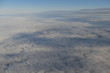 Passenger view from a commercial aircraft at high altitude - 243621996