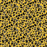 Watercolor safari jaguar vector pattern - 243621944