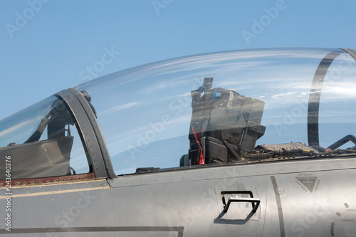 obraz PCV jet fighter ejector seat and glass canopy