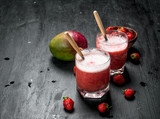 Berry smoothie with fruit. - 243649368