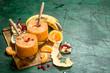 Leinwandbild Motiv Fresh fruit smoothie.