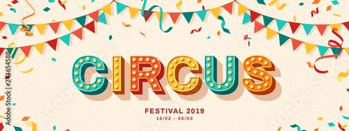 Circus retro typography design