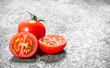 Fresh ripe tomatoes .