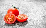 Fresh ripe tomatoes . - 243654777