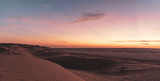 Sunset in the desert of Wahiba Sands, Oman - 243656782
