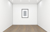 Empty Gallery Room And Picture - 243669120