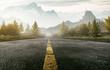 Quadro Straße führt ins Gebirge