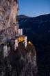 Amazing View Of Madonna della Corona Sanctuary at  sunrise -  Italy, Europe