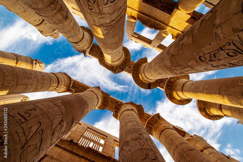 Hypostyle hall in the Precinct of Amun Re at Temple of Karnak Luxor