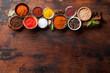 Leinwandbild Motiv Set of various spices and herbs