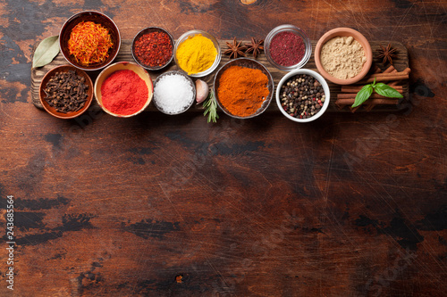 Set of various spices and herbs - 243685564