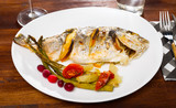 Sea bream baked in oven - 243694584