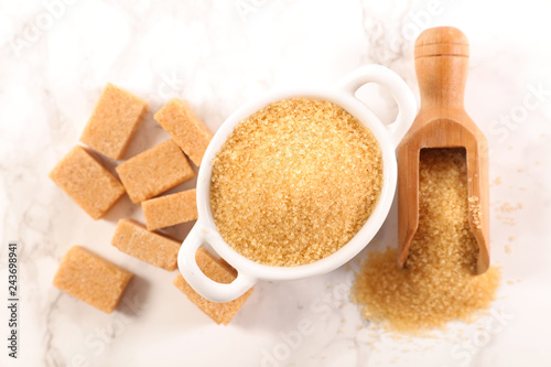 brown sugar, powder and cube