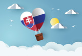 Heart air balloon with Flag of Slovakia for independence day or something similar