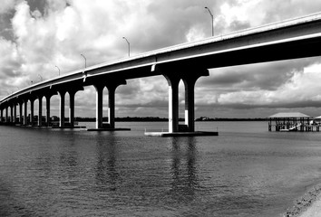 Bridge Span Crossing Over The  River at North Beach, Florida © itsallgood