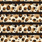 Leopard seamless pattern. Tiger skin print. Animal background. Vector illustration - 243704993