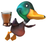 Fun duck - 3D Illustration
