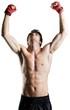 Male Boxer / Kickboxer Celebrating