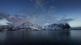 sunrise at Reine Village, timelapse, Lofoten Islands, Norway - 243730189