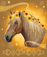 Horse portrait with flowers15 © alinart