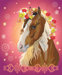 Horse portrait with flowers16 © alinart