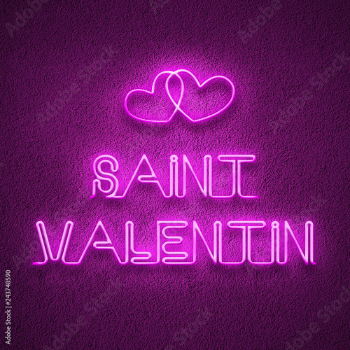 Saint Valentin effet néon