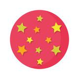 circus balloon plastic with stars - 243748761