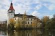 Blatná castle with moat, South Bohemian region, Czech republic