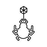 bug animal isolated icon