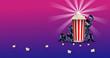 cinema, 3d, illustrazione, schermo, sfondo