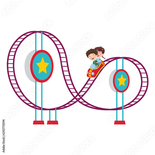 Vector Illustration Of Amusement Park