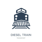 diesel train icon vector on white background, diesel train trendy filled icons from Transport collection, diesel train vector illustration