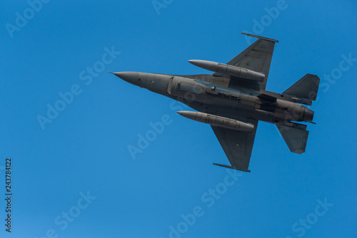 obraz PCV Army Show performant of air craft in air show with blue sky background
