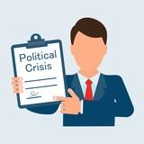 Political crisis Senator, politician. Vector image, uniform background. - 243785952