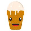Happy ice cream cone. Vector illustration design