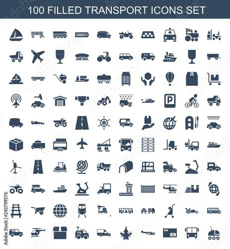 Fridge magnet transport icons