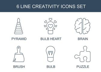 6 creativity icons © HN Works