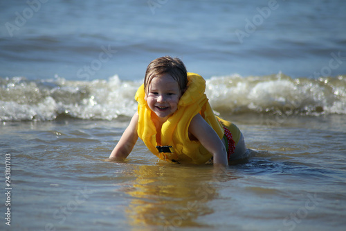 Child at sea