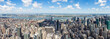 West panorama view from The Empire State Building with New Jersey and the Hudson river, New York, United States