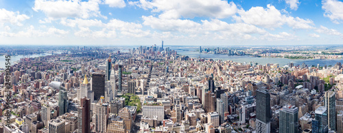 South Panorama view from The Empire State Building with Lower Manhattan and One World Trade Center, New York, United States - 243804545