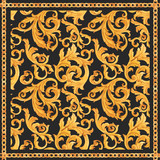 Golden baroque rich luxury vector pattern - 243805133