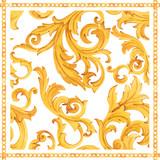 Golden baroque rich luxury vector pattern - 243805329